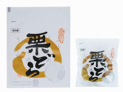 窓付き袋 栗どら(125×160)