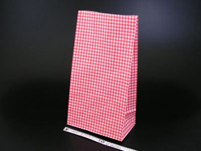 角底袋 ギンガムミニ赤 6