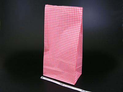 角底袋 ギンガムミニ赤 8