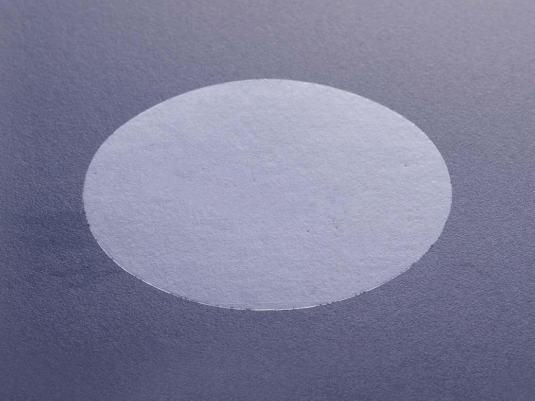 楕円 透明シール(印刷無し)