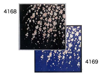 彩時記 小風呂敷 しだれ桜 SK-1/黒