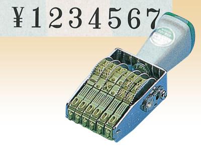 テクノタッチ回転印8連 TK-038