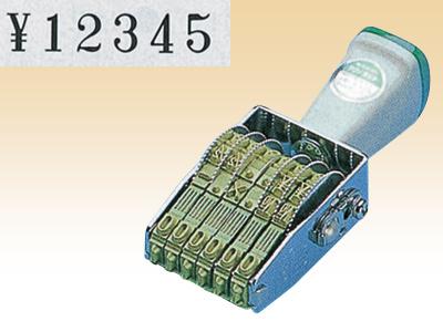 テクノタッチ回転印6連 TK-046