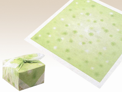 アラカルト 水明かり グリーン 75×75cm