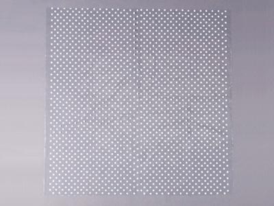 水玉透明フロシキ(中) 白