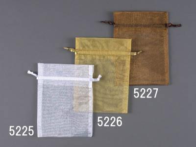 オーガンジーバッグ10枚入り(M)/ゴールド(130×170)