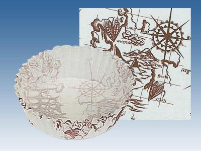 ペットカップ丸型 帆船 (80径×20H)