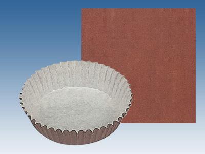 ペットカップ丸型 茶ベタ (100径×30H)