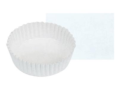 ペットカップ丸型 白無地(110径×30H)