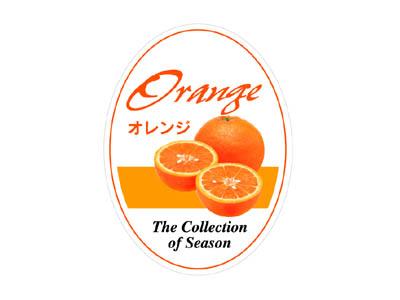 フレーバーシール オレンジ(楕円)
