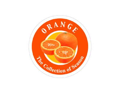 フレーバーシール オレンジ 丸