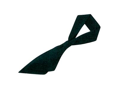 ループ付スカーフ 黒