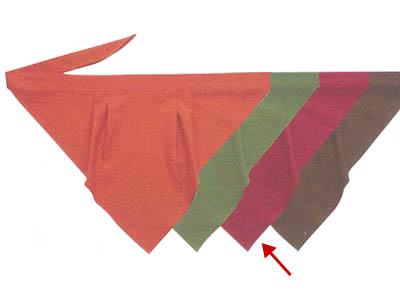三角巾A エンジ
