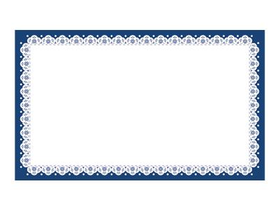 エコカード レース(紺) 30枚