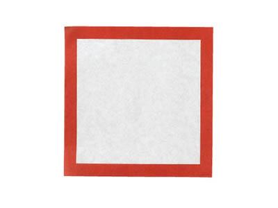敷き紙 (赤) 3寸