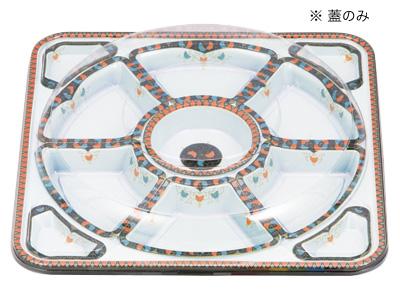 オードブル角丸455透明フタ(フタのみ)