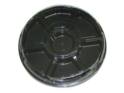 オードブル丸465黒(フタセット)