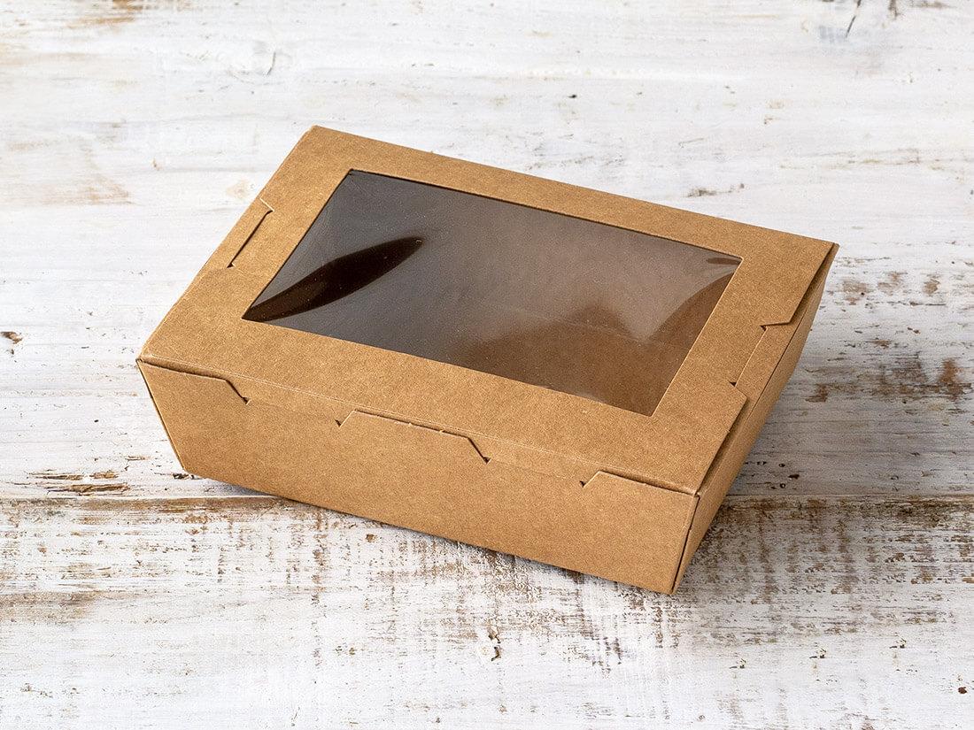 窓付きランチボックス(XS)クラフト