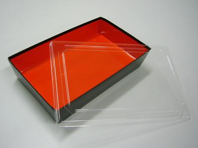 紙BOX YJ-10 朱黒 透明フタセット