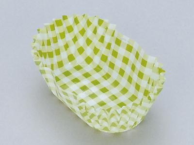 フードケース格子緑 小判(500枚入)