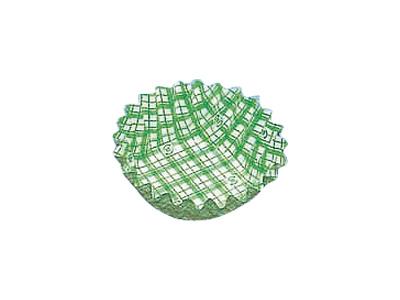 フードケース格子 丸型6号深 緑(500枚入)