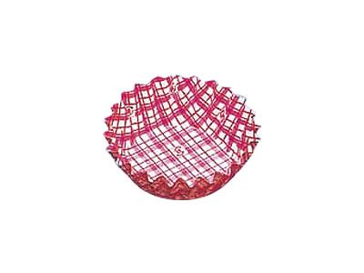 フードケース格子 丸型8号深 赤(500枚入)