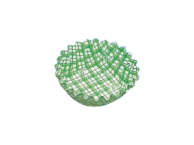 フードケース格子 丸型8号深 緑(500枚入)