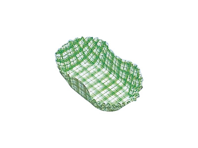 フードケース格子 小判型9号 緑(500枚入)