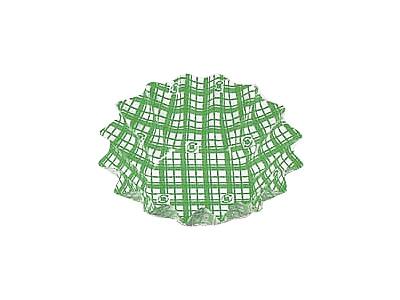 フードケース格子 ひまわり大 緑(500枚入)