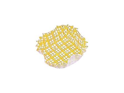 フードケース格子 正角 黄(500枚入)