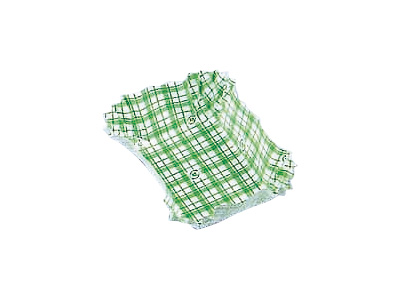 フードケース格子 角大 緑(500枚入)