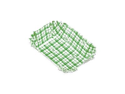 フードケース格子 角特大 緑(500枚入)