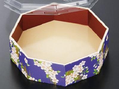 さが野八角 5.1寸 宝扇華(紫) 蓋セット