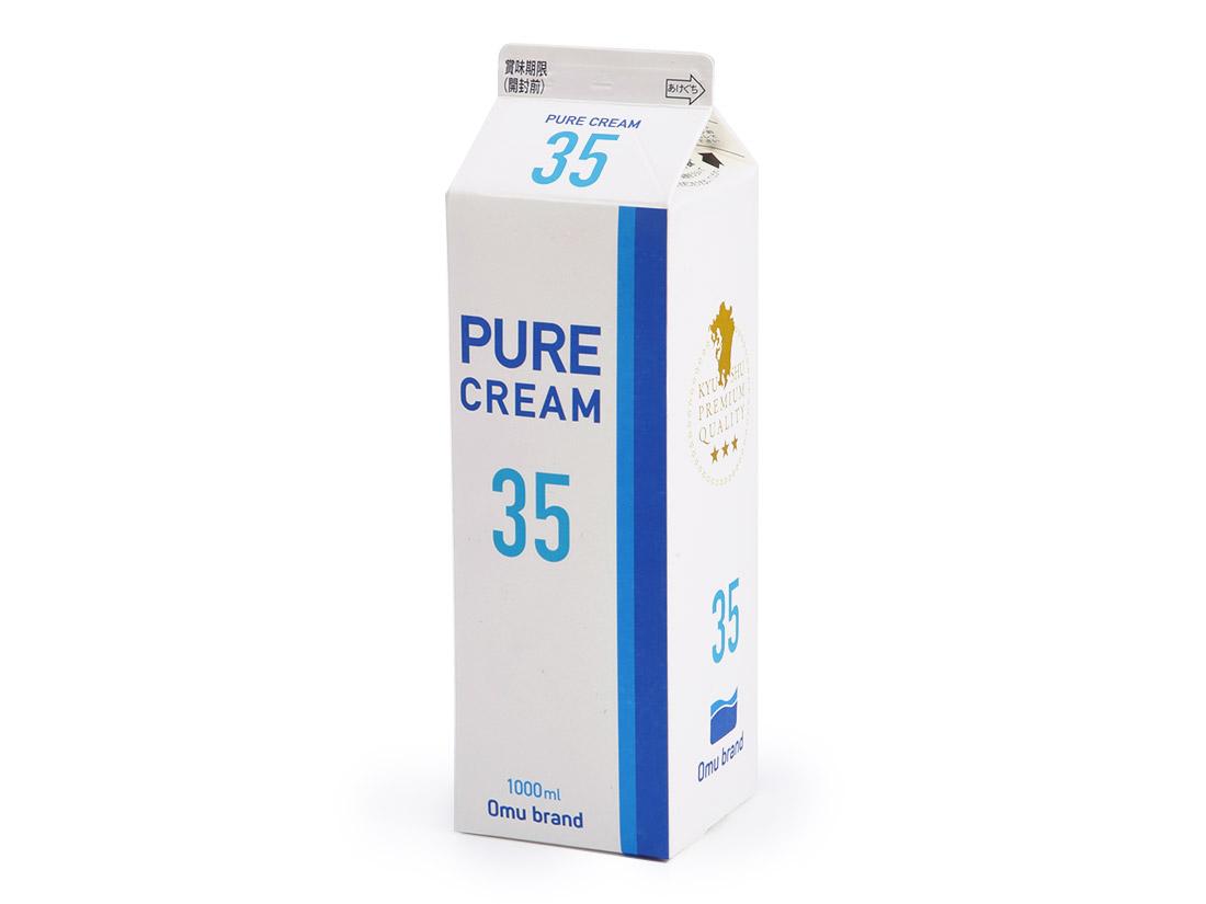 冷蔵 オーム乳業 ピュアクリーム35% 1L★