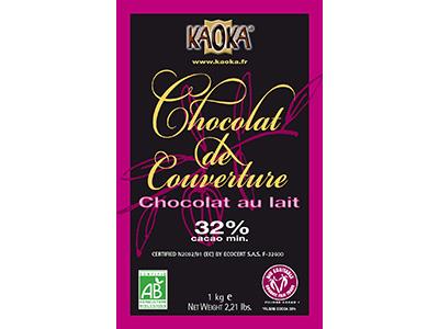 冷蔵便 カオカ ミルクチョコレート ショコラオレ 32% 1kg