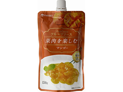 日世 フルーツソース 果肉を楽しむ マンゴー 150g