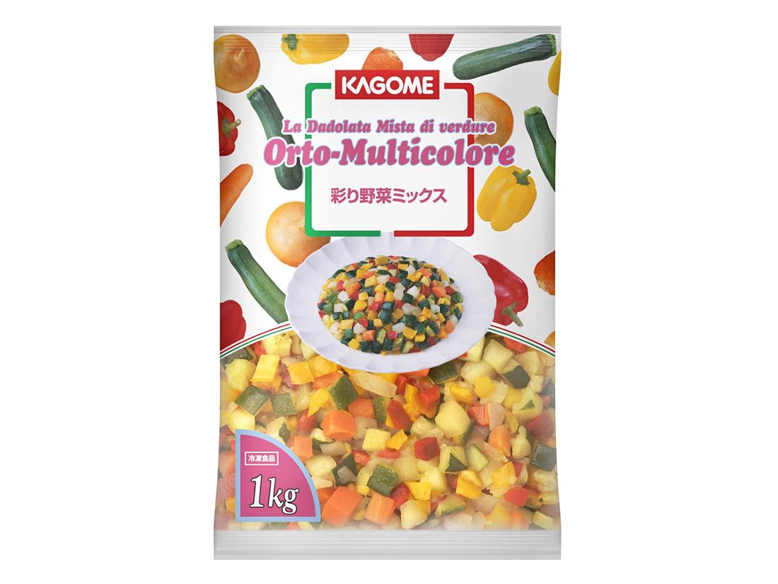 冷凍 カゴメ 彩り野菜ミックス 1kg