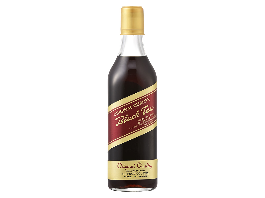 GS ブラックティー 加糖 500ml瓶