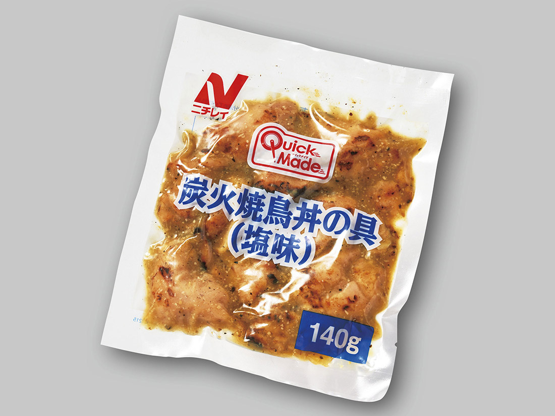 <冷凍>ニチレイ QM炭火焼鳥丼の素 塩味  (140g×5)