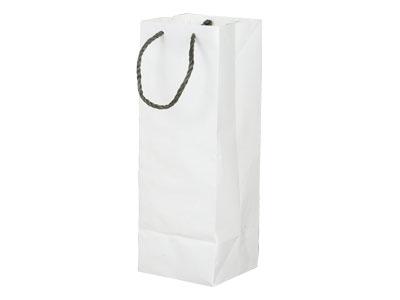 一升瓶1本白手提袋