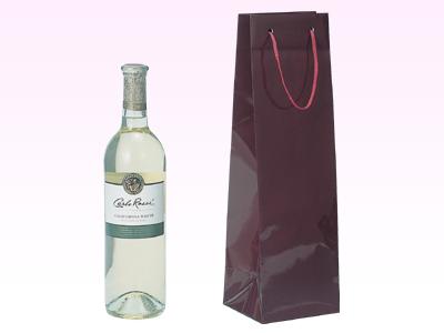 ブライトバッグ ワイン1本 エンジ