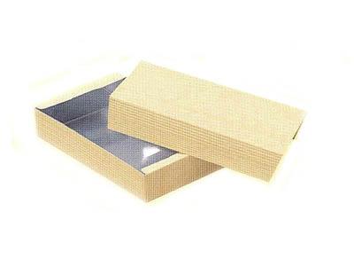 柾目柄銀折箱 15号