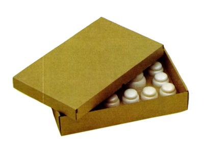 紙製ばんじゅう 茶(クラフト地)