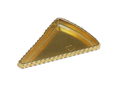SK-6三角ゴールドケーキトレー