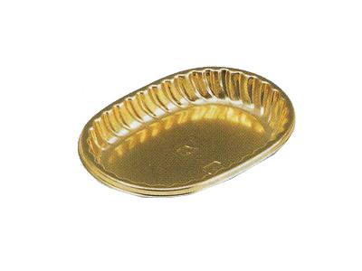 楕円ゴールドケーキトレー