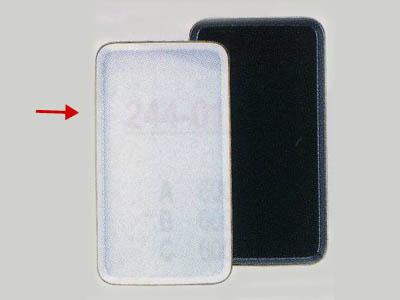 陶器ケーキトレー長角(白)