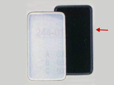 陶器ケーキトレー長角(黒)