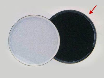 陶器ケーキトレー丸(黒)