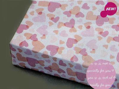 包装紙 スィートハートピンク(表裏別柄50枚入)
