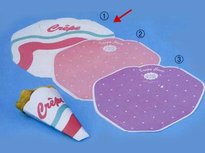 変形型クレープ包装紙(ウェーブ)